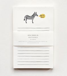 Zebra 'Get It Done' Notepad // Rifle Paper Co.