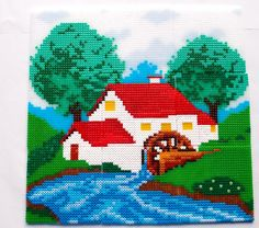 Mill house hama perler beads by Nina V. Kristensen