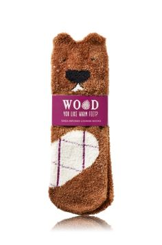 Critter Beaver - Shea-Infused Lounge Socks - Bath & Body Works - How wood you like a treat for your feet? Our Shea-Infused Socks provide rich moisture & ultimate comfort for your tired toes.Super-soft fabric and cute critter detailing let you kick back and relax in style.