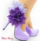 Purple Flower Platform Pumps --- Not sure that I would wear these ones, but they are super cute.