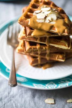 Paleo Protein Waffles - Single serve, packed with protein, and ready in 5 minutes so you can have healthy, gluten free waffles any day of the week! | Foodfaithfitness.com | @FoodFaithFit