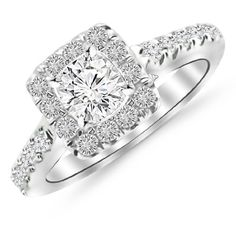 1.22 Carat Square Halo Diamond Engagement Ring with a 0.63 Carat F-G I1 Center $1,520.00 (70% OFF)