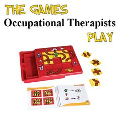The Prince & The Dragon - Save the princess and find the treasure while avoiding the dragon. Twelve challenges will help develop analytical thinking skills. Stop by The Playful Otter (OTR) for ideas for using 100's of board games therapeutically.