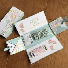 / display for a wedding with Bollos from Nfv d ., Advertising / display for a wedding with Bollos from Nfv d ., Advertising / display for a wedding with Bollos from Nfv d . Money Cards, Diy Cards, Fancy Fold Cards, Folded Cards, Diy Gift Box, Diy Gifts, Birthday Box, Birthday Cards, Exploding Gift Box