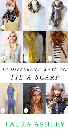 12 Different Ways to Tie a Scarf Tutorial