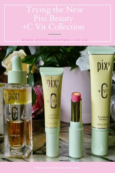 Trying the New Pixi Beauty C Vit Colourtreats Collection Vitamin C Benefits, Dry Lips, Even Skin Tone, How To Apply Makeup, Collagen, Lip Balm, Moonlight, Pixie, Skincare