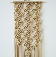 Macrame Wall Hanging Sprigs 1 Handmade Macrame Home by craft2joy