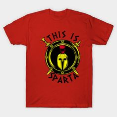 CAUTION THIS IS SPARTA 300 iron on T-shirt Transfer Light or Dark fabric A4 A5