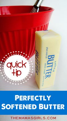The Quick Way to Get Perfectly Softened Butter (without melting it!)