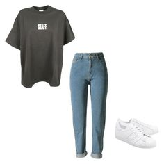 """""""Untitled #115"""" by xxkaterinaxx on Polyvore featuring Vetements and adidas Originals"""