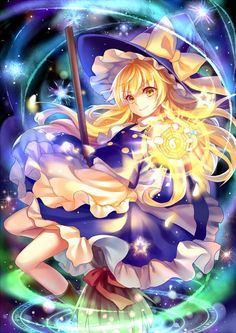 Marisa Kirisame Me Me Me Anime, Anime Guys, Anime Witch, Harry Potter Artwork, Otaku, Anime Maid, Beautiful Anime Girl, Kawaii Anime Girl, Cute Images