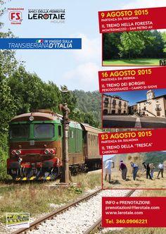 I prossimi appuntamenti previsti in Agosto sulla #transiberianaditalia. prenotazioni@lerotaie.com 3400906221