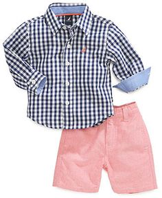 Baby Boy Clothes at Macy's come in a variety of styles and sizes. Shop Baby Boy Clothing and find the latest styles for your little one today. Toddler Boy Fashion, Toddler Boy Outfits, Baby Kids Clothes, Kids Outfits, Kids Fashion, Fashion 2018, Baby Boys, Toddler Boys, Retro Mode