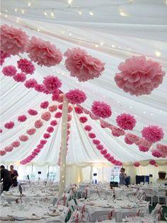 Вдохновение: помпоны в декоре свадьбы