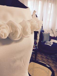 #bridal #handmadeflower #white #craft