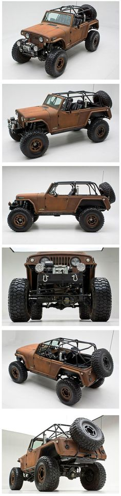 Rusted Terra Crawler. 1969 Jeepster Commando