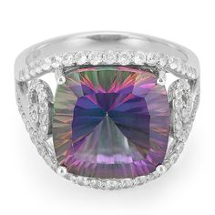 Bague+en+argent+et+Topaze+Mystique+-+une+pièce+fantastique+à+la+qualité+irréprochable+et+au+design+exceptionnel.+En+exclusivité+chez+Juwelo. Decorative Bowls, Halloween, Design, Mystic Topaz, Jewerly, Spooky Halloween