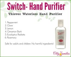 Switch out your current toxic hand sanitizer with something much healthier! Get it here: http://yl.pe/dk7