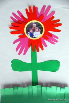 Hand and foot print flower - developmental practice