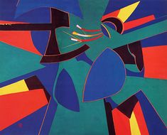Runaway Comet, 1998. By Françoise Gilot (France, born 1921). Oil on canvas.