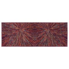 Ottomanson Rainbow Collection Multicolor Non-slip Modern Abstract Firework Design Area Rug (2' x 5')