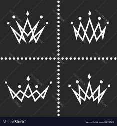 Set crowns logo monogram silhouette, thin line graphic geometric shape decoration, collection princess tiara icon. Download a Free Preview or High Quality Adobe Illustrator Ai, EPS, PDF and High Resolution JPEG versions.