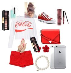 """""""Red outfit"""" by ellaschaeffer31 on Polyvore featuring beauty, New Look, Converse, Bella Dahl, Alexander Wang, Chanel, Sydney Evan, Kylie Cosmetics, Yves Saint Laurent and Piggy Paint"""
