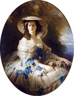 Empress Eugenie by Studio of Franz Xaver Winterhalter  (Dress by Worth)