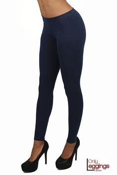 Made in the USA full length basic cotton leggings made with a very high quality cotton fabric and stitch.  These cotton leggings have a perfect fit and are a very comfortable legging.