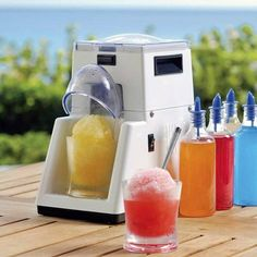 Great For The Summer BBQ's Little Snowie Shaved Ice Machine, $240