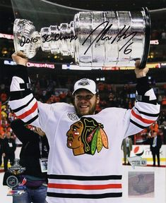 Jordan Hendry Signed Blackhawks 2010 Stanley Cup Trophy 8x10 Photo w 2010  SC Champs dd44ad94e