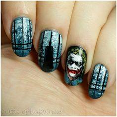 Colour Alike ~Typografia~ L + acrylic paint #nails #nailart