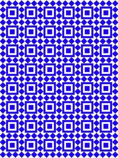 Moroccan Tiles Cerulean Art Print