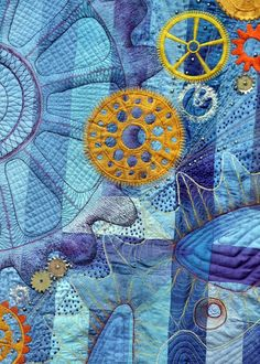 Steampunk Gears quilt by Barbara Lange