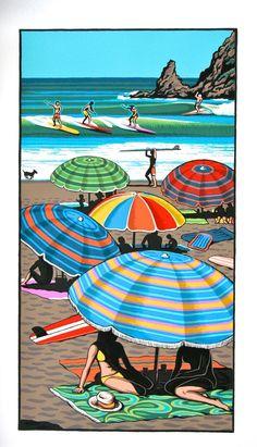 Coastal Carnival Print by Tony Ogle for Sale - New Zealand Art Prints