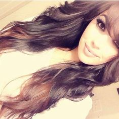 long layers, side swept bangs, keep ombre.