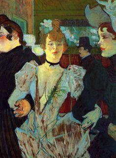 Henri de Toulouse-Lautrec - La Goulue entering the Moulin Rouge - Oil on canvas 79.4 × 59 cm. Museum of Modern Art (MoMA)