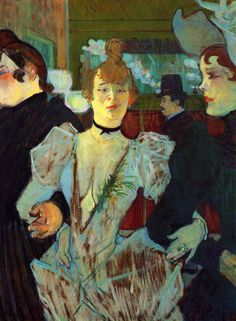 Henri de Toulouse-Lautrec - La Goulue entering the Moulin Rouge - Oil on canvas 79.4 × 59 cm. Museum of Modern Art (MoMA)