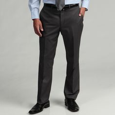 @Overstock - Classic and refined, these flat-front trousers from Kenneth Cole Reaction feature a slim-cut hemmed leg and durable polyester-blend construction. These stylish grey dress pants are finished with two back besom button pockets. http://www.overstock.com/Clothing-Shoes/Kenneth-Cole-Reaction-Mens-Slim-fit-Grey-Flat-front-Suit-Separate-Pant/5937723/product.html?CID=214117 $50.99