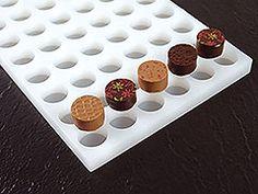 Round Plain Oreo type Cookie Moule Pour Coulage de chocolat 6 formes sur 1 moule