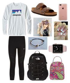 The north face, vera bradley and belkin cute teen outfits, outfits for teen Cute Lazy Outfits, Cute Outfits For School, Sporty Outfits, Outfits For Teens, Fall Outfits, Casual Preppy Outfits, Fall College Outfits, Emo Outfits, College Fashion