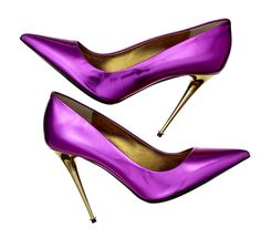 Shine on, Tom Ford. purple pumps