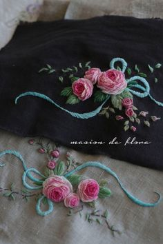 Bullion Embroidery, Hand Embroidery Videos, Hand Embroidery Flowers, Hand Embroidery Stitches, Silk Ribbon Embroidery, Diy Embroidery, Embroidery Needles, Floral Embroidery Patterns, Hand Embroidery Designs