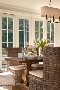 *Dining Room...I love these chairs! I saw similar ones years ago in a shop near Pittsburgh.  Never forgot them.