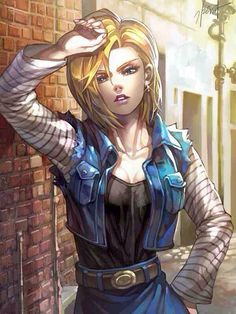 Android 18 super beautiful art DBZ