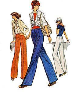 70s Straight Legged Pants with No Side Seams & by TheGrannySquared