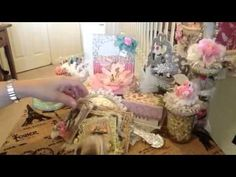 Altered tickets, altered clothes pins and sweet cards - YouTube