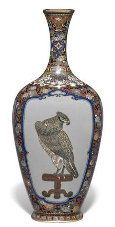 A small cloisonné-enamel vase Meiji era (late 19th century)
