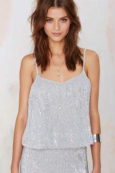 Glamorous La Flavour Sequin Cami Top