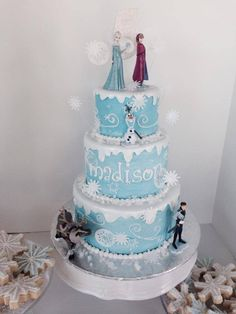 Frozen cake without characters